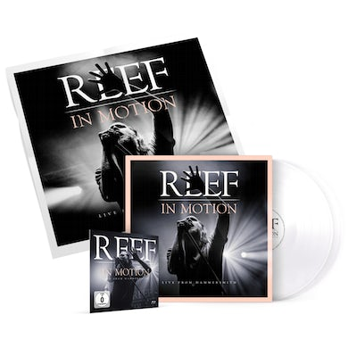Reef In Motion Double White Vinyl + Blu-ray (incl. Download Code) + Poster Double LP