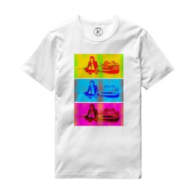 Richard Ashcroft Three Colour Car Photo White T-Shirt