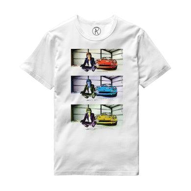 Richard Ashcroft Three Car Photo White T-Shirt