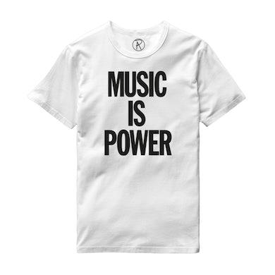 Richard Ashcroft Music Is Power 2020 White T-Shirt