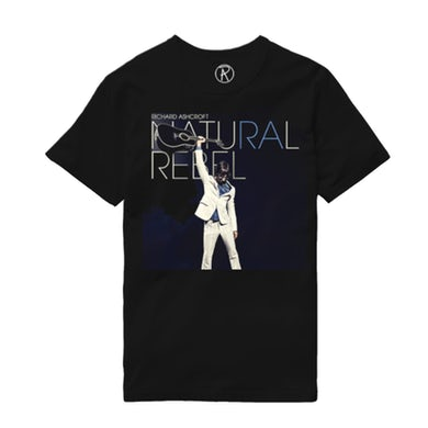 Richard Ashcroft Natural Rebel Black Album T-Shirt