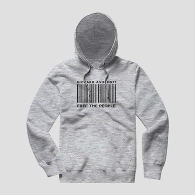 Richard Ashcroft Free The People Grey Barcode Hoodie