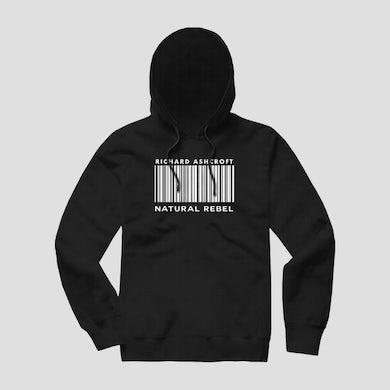 Richard Ashcroft Natural Rebel Black Barcode Hoodie