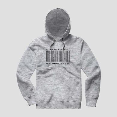 Richard Ashcroft Natural Rebel Grey Barcode Hoodie