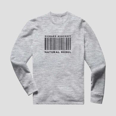 Richard Ashcroft Natural Rebel Grey Barcode Sweatshirt