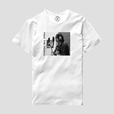 Richard Ashcroft Free The People Photo White T-Shirt