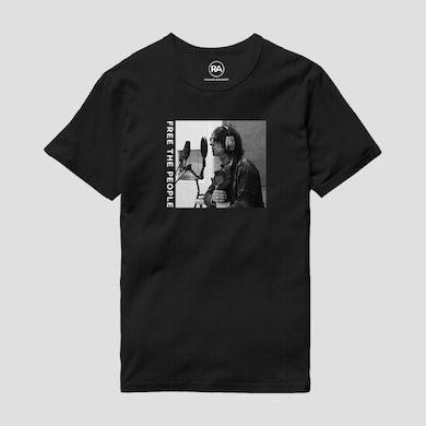 Richard Ashcroft Free The People Photo Black T-Shirt