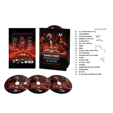 Simply Red Symphonica In Rosso CD Collector's Pack