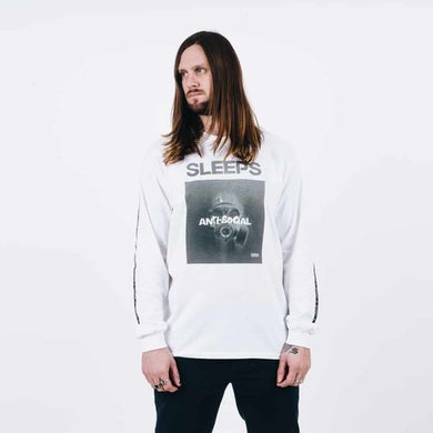 While She Sleeps White Anti Social Long Sleeve