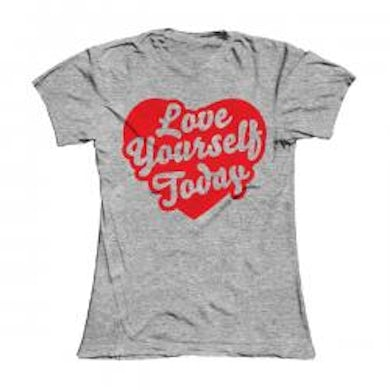 Damien Dempsey Girls Grey Love Yourself Today T-Shirt