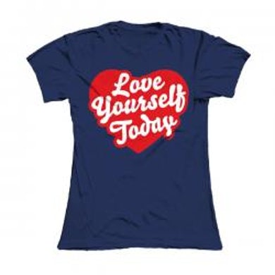 Damien Dempsey Girls Blue Love Yourself Today T-Shirt