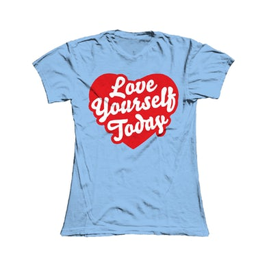 Damien Dempsey Girls Light Blue Love Yourself Today T-Shirt