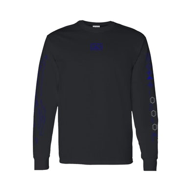 Rina Sawayama Digital Blue Black Long Sleeve T-Shirt