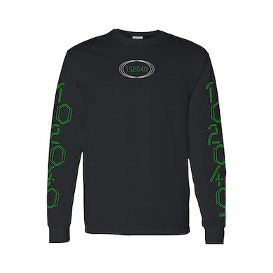 Rina Sawayama Digital Green Black Long Sleeve T-Shirt