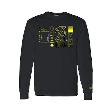 Rina Sawayama Digital Yellow Black Long Sleeve T-Shirt