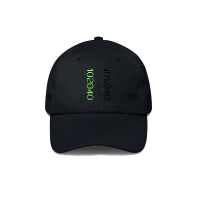 Rina Sawayama Digital Green Embroidered Black Baseball Cap