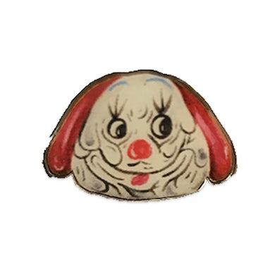 White Denim  Dog Clown Pin