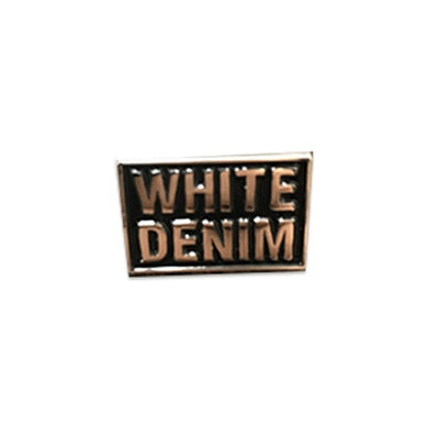 White Denim Pin