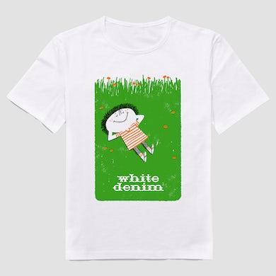 White Denim  Grass T-Shirt