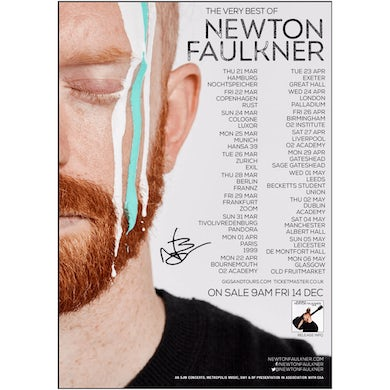 Newton Faulkner Signed A1 Tour Poster