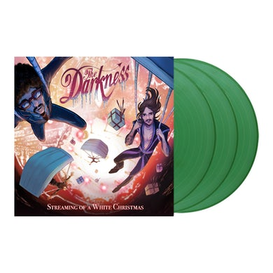 The Darkness Streaming Of A White Christmas Triple Sparkle Green Vinyl Triple LP