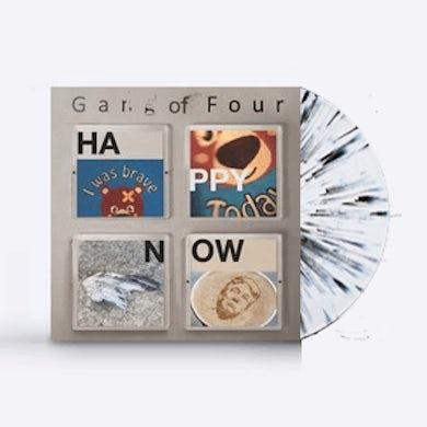 Gang Of Four Happy Now Black / White Splattered (Signed) LP (Vinyl)