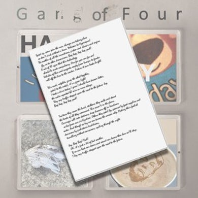 Gang Of Four PRIVATE LINK -Handwritten Lyric Sheet (Signed)
