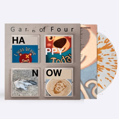 Gang Of Four Happy Now Orange Splatter Heavyweight LP (Vinyl)