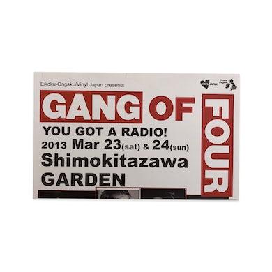 Gang Of Four Vinyl Japan Poster