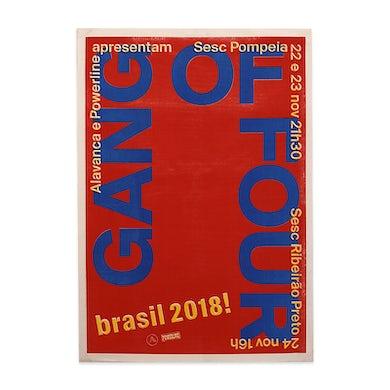 Gang Of Four November 2018 Brazil Poster