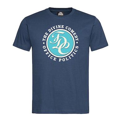 The Divine Comedy Office Politics T-shirt - TDC logo (Blue)