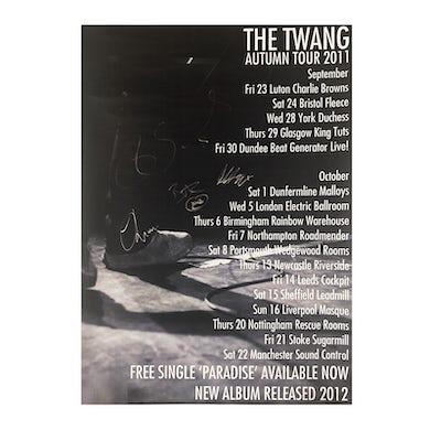 The Twang Signed 'Paradise' Autumn 2011 Tour Poster