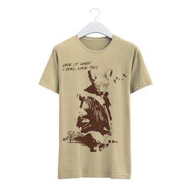 The Twang 'Love It' Fox Silhouette Off White T Shirt