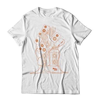 Orange Wireframe T-Shirt