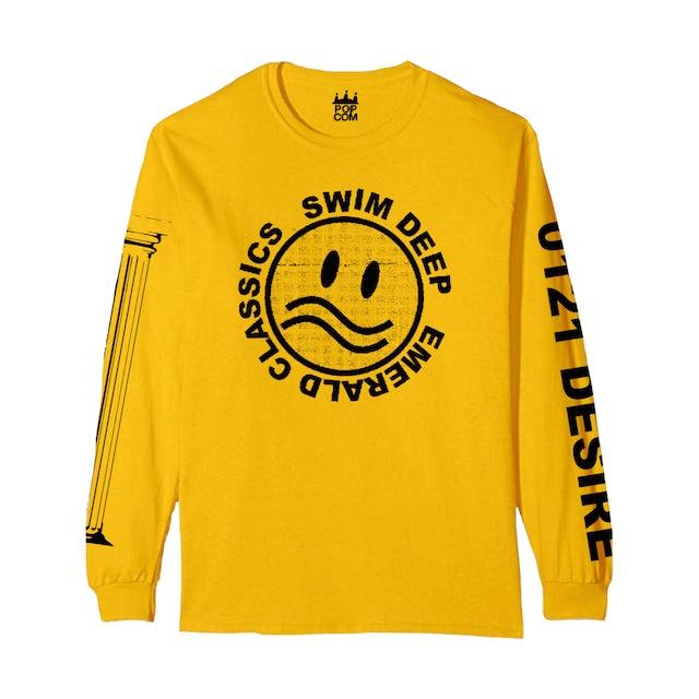 Swim Deep Yellow Logo Long Sleeve T-Shirt