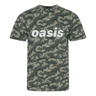 Oasis Replica 1996 Camo Green T-shirt