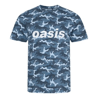 Oasis Replica 1996 Camo Blue T-shirt