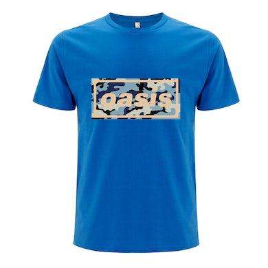 Oasis Replica 1996 Logo Blue T-shirt