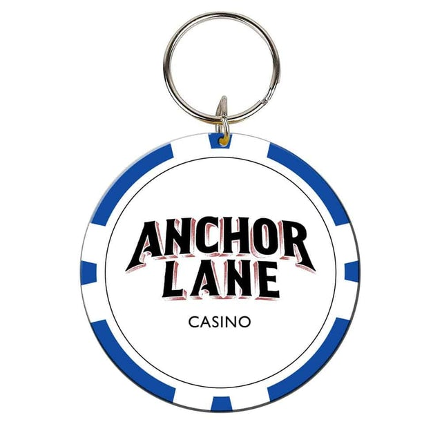 Anchor Lane Casino Chip Keyring