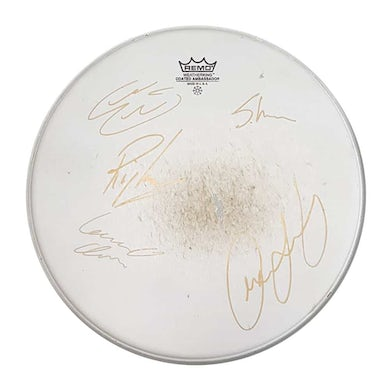 Floor Tom Drum Skin: Signed by Anchor Lane & Ricky Warwick
