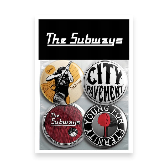 The Subways Young For Eternity Pin Badge Set