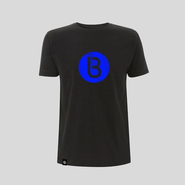 Bedrock Music Bedrock Classic B Logo (Blue) Black T-Shirt