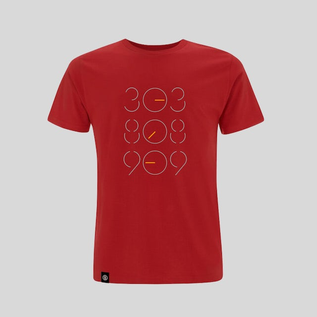 Bedrock Music Red 303 808 909 T-Shirt