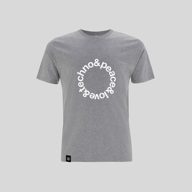 Bedrock Music Light Grey Techno T-Shirt