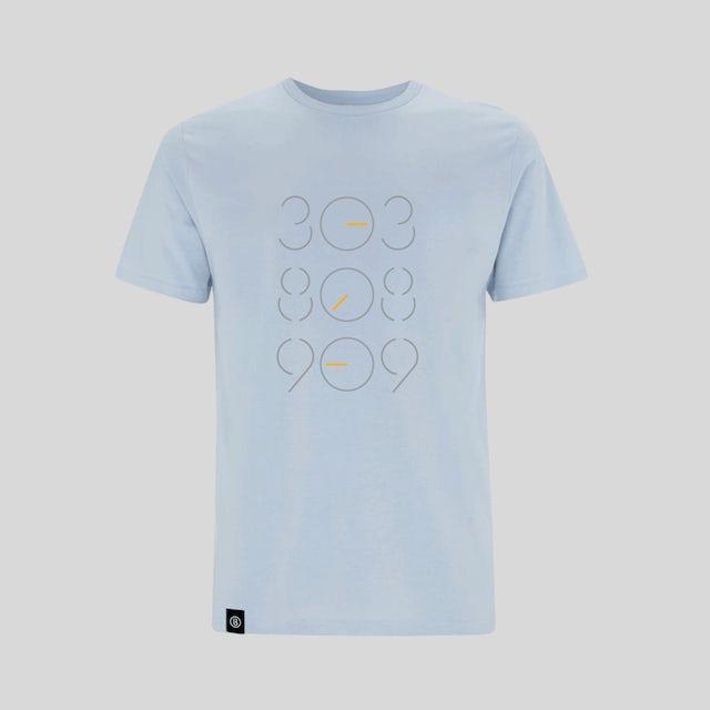 Bedrock Music Light Blue 303 808 909 T-Shirt