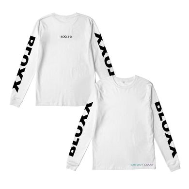 Bloxx White Long Sleeve T-Shirt (with sleeve print)
