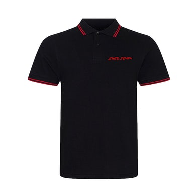 Mens Shed Seven Red Piping Polo Shirt