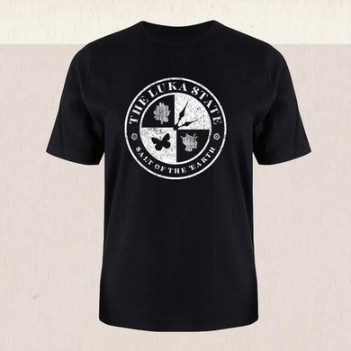 The Luka State Unisex Black Rocker T-Shirt