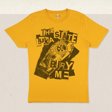 The Luka State Limited Edition Bury Me T-Shirt - Gold/White