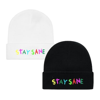 Ocean Wisdom Stay Sane Embroidered Beanie Hat